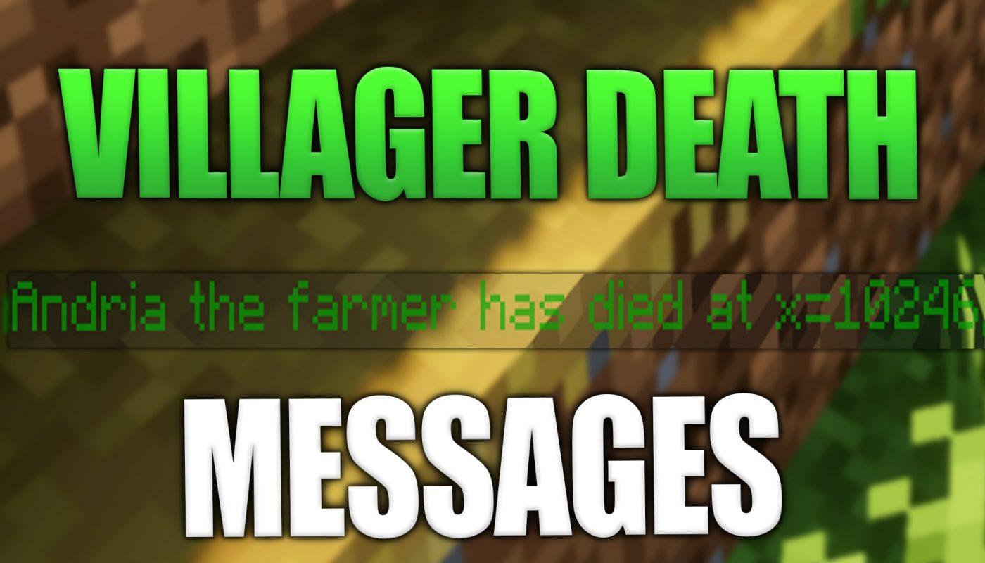 Villager Death Messages