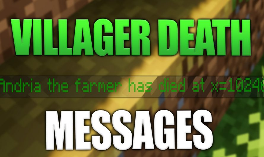 Villager Death Messages 1.16.4